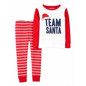 NEW Carter's Santa 🎅 Team Pajama Set Size 8